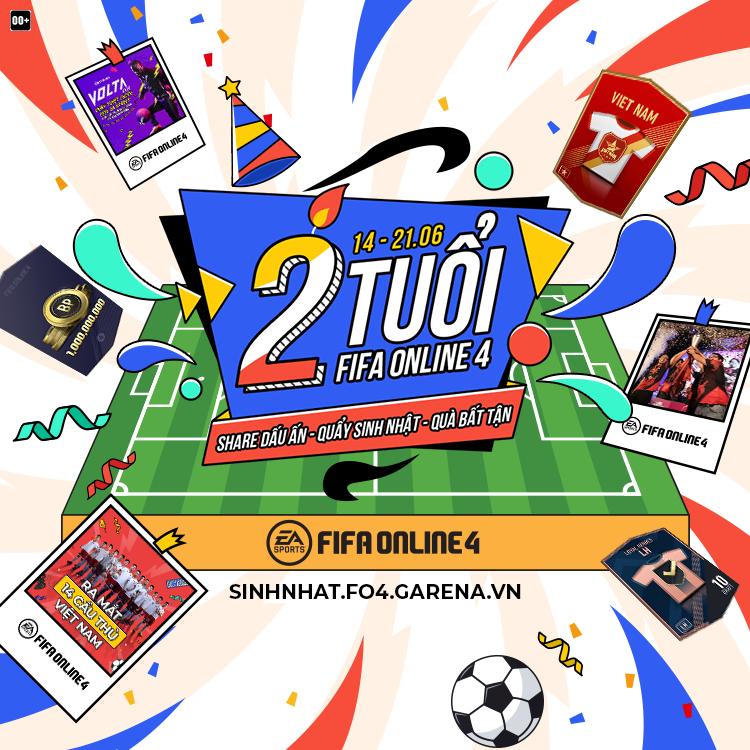 Tưng bừng trong không khí mừng sinh nhật FIFA Online 4 lên 2