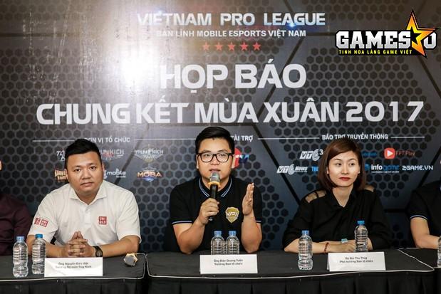 BTC VPL 2017 trao đổi với báo chí ngay sau trận Chung kết bộ môn Tập Kích