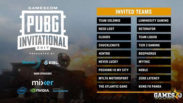 Danh sách các đội được Bluehole mời tới tham dự PUBG Invitational