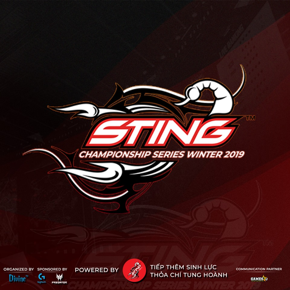 Sting Championship Series Winter 2019 (SCS Winter) sẽ là giải đấu PUBG đầu tiên của Rồng Thần sau khi có tên mới