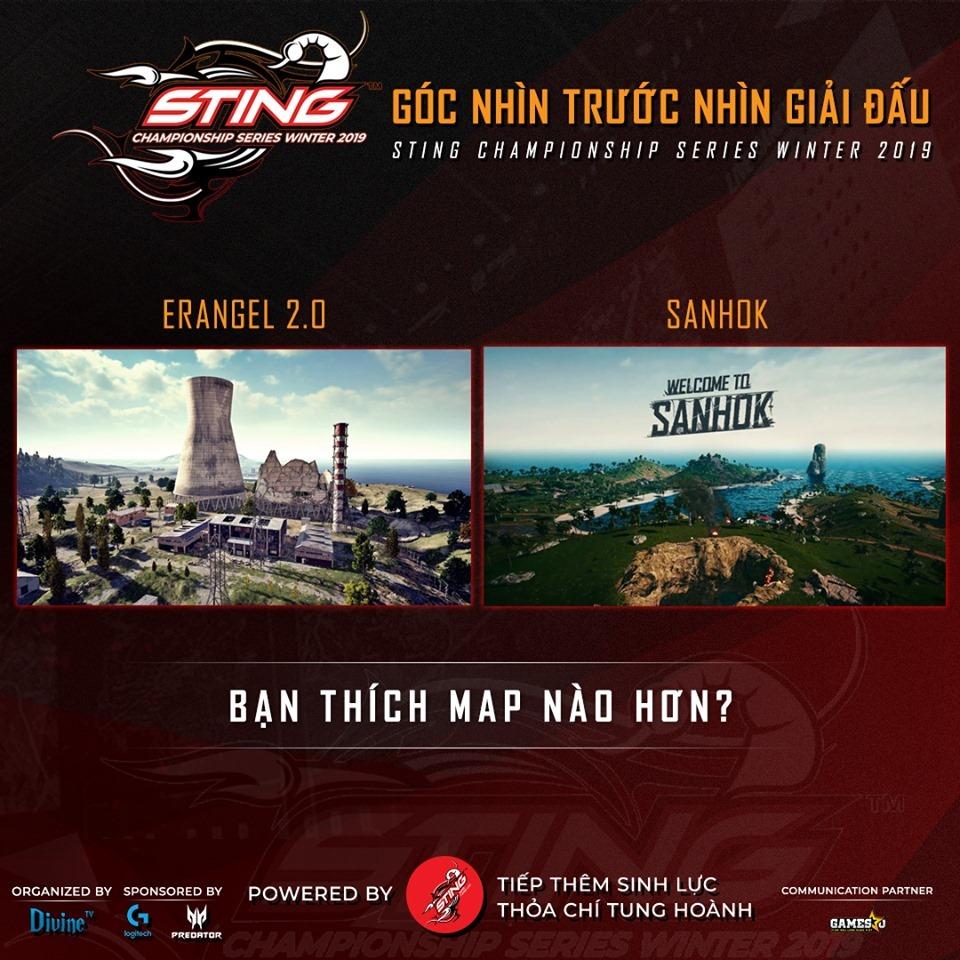 Map Sanhok chính thức được đưa vào Sting Championship Series