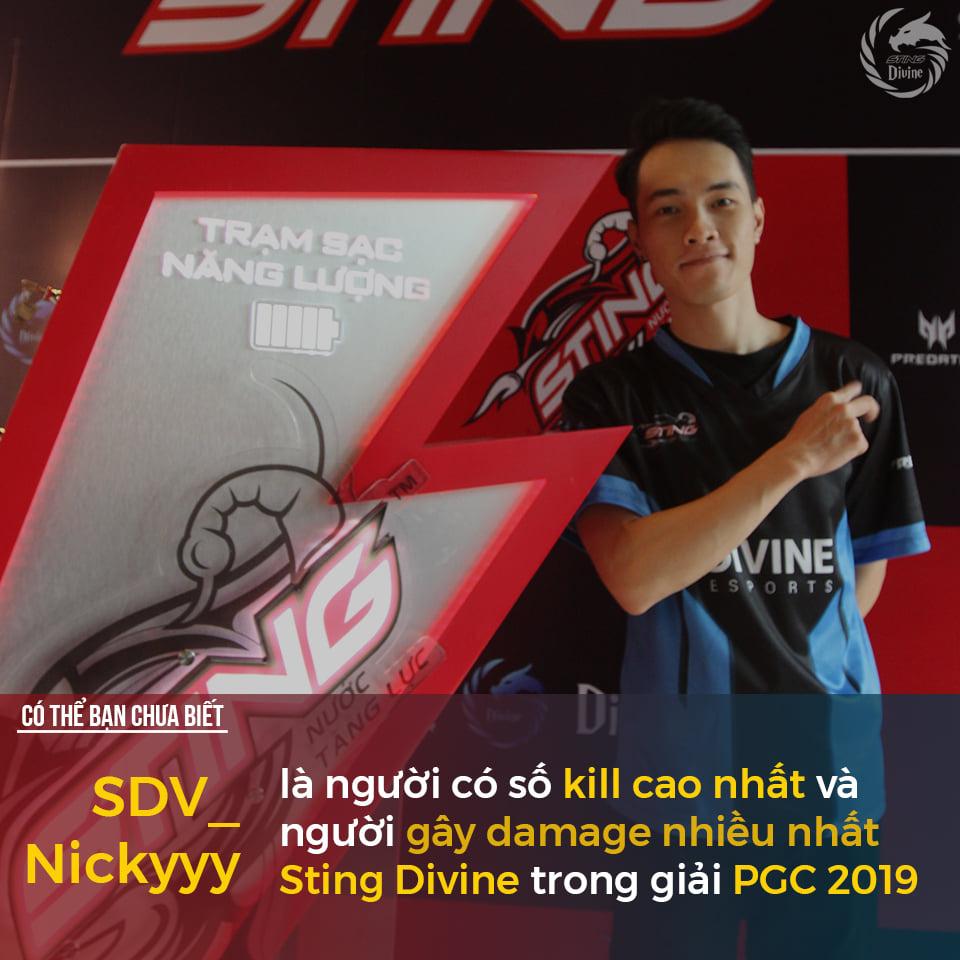 Người có thành tích tốt nhất của Sting Divine Esports