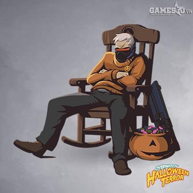 Bộ ảnh cực kute đón Halloween 2016 của các vị tướng trong Overwatch - ảnh 16