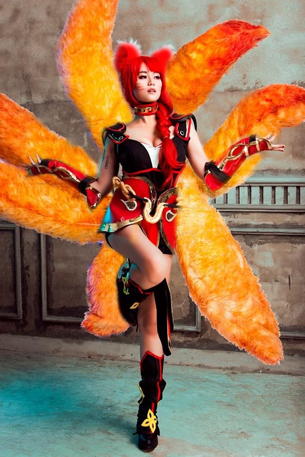 Misthy nóng bỏng trong bộ cosplay Ahri Hỏa Hồ Ly