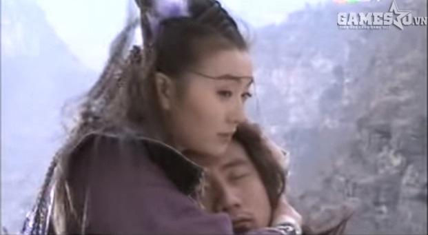 """Cảnh tượng đầy ám ảnh khi A Tử """"trả hết nợ nhân gian"""" rồi ôm Tiêu Phong nhảy xuống vực sâu."""