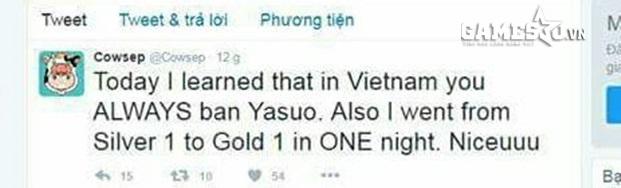 [LMHT[ Cowsep: Phải cấm Yasuo thì tôi mới yên tâm leo rank Việt Nam được! - ảnh 1