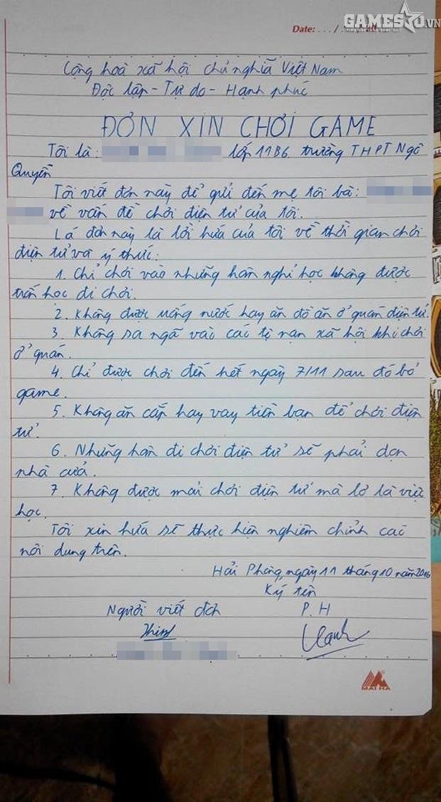 Hài hước game thủ viết đơn gửi bố mẹ để được thoải mái leo rank LMHT - ảnh 3