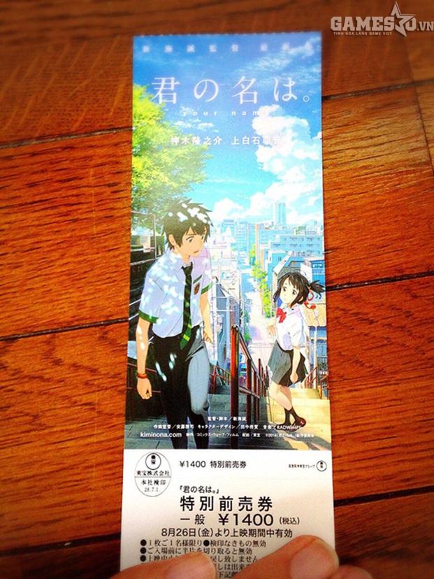 """Một tấm vé xem phim của """"nước chủ nhà"""" Nhật Bản."""