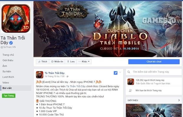 Dù mới ra mắt những fanpage đã nhận được sự ủng hộ của hàng ngàn game thủ