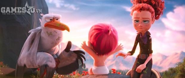 Storks sở hữu phần hình ảnh và âm thanh ấn tượng, dù kinh phí của bộ phim thấp hơn so với nhiều bom tấn cùng dòng hoạt hình. Ảnh: Warner Bros.