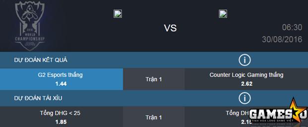Kèo tài xỉu bên dưới với dự đoán tổng điểm hạ gục trong 1 trận đấu