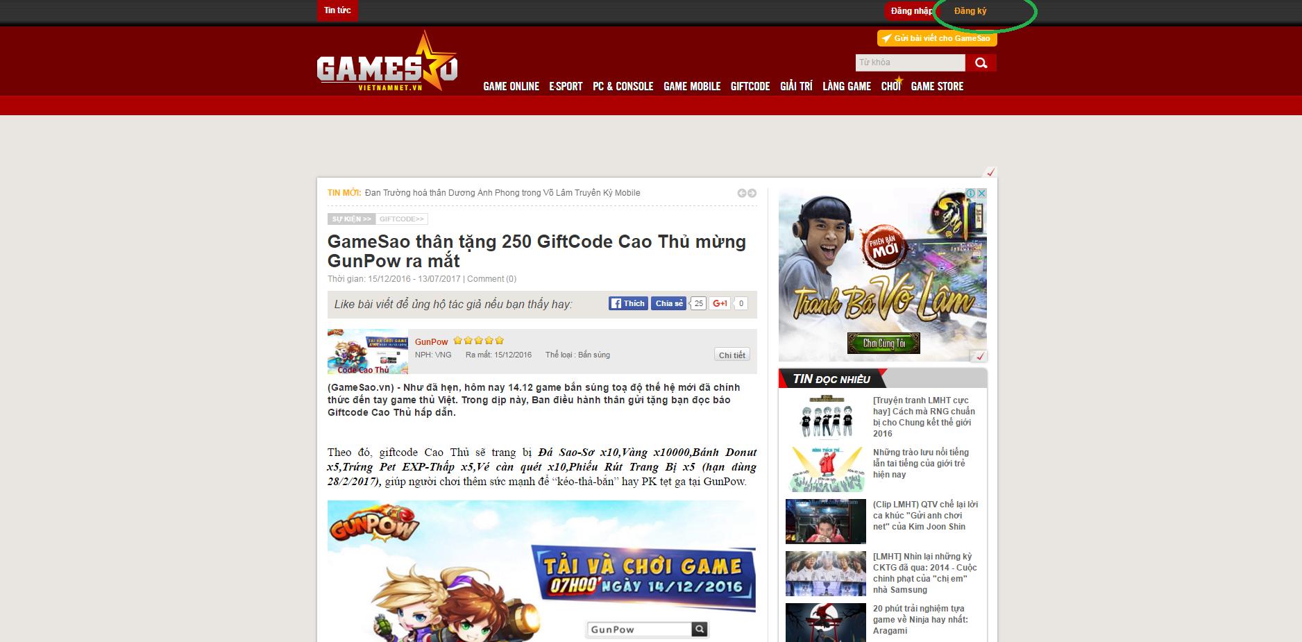 GameSao thân tặng 400 GiftCode Võ Lâm Returns mừng Valentine 2017 - ảnh 2