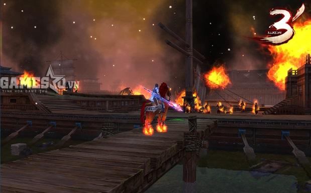 Xích Bích chìm trong biển lửa