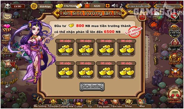 Hình ảnh tiệm gửi tiết kiệm có lãi xuất trong game