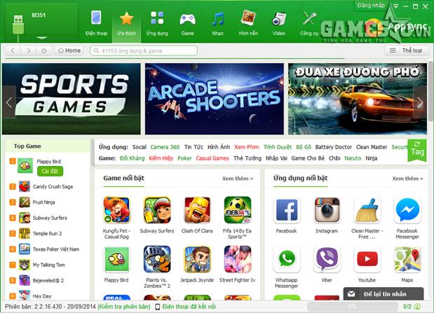 AppSync sở hữu kho game/apps khổng lồ được tuyển chọn kỹ lưỡng và an toàn.
