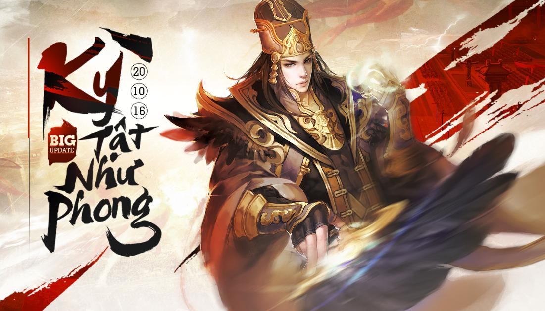 GameSao thân tặng 200 GiftCode Chiến Thần Xích Bích mừng Big Update 20/10