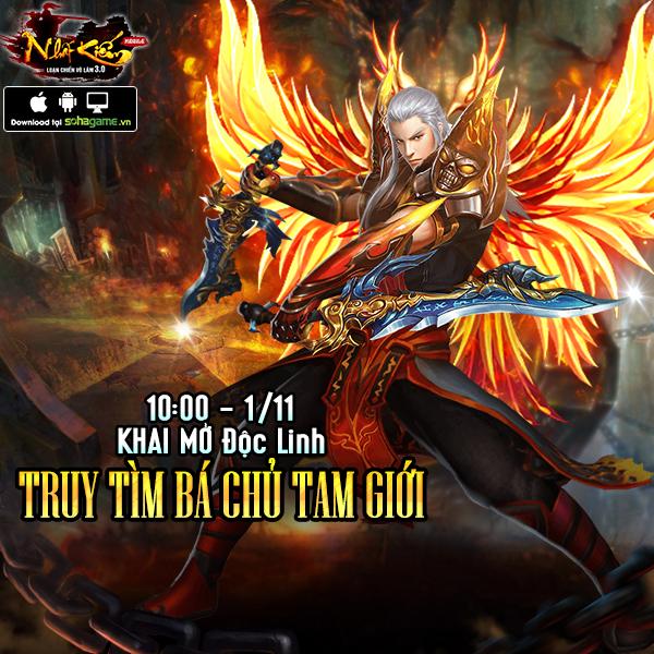 GameSao thân tặng 300 GiftCode Nhất Kiếm Phi Thiên mừng ra mắt server mới Độc Linh