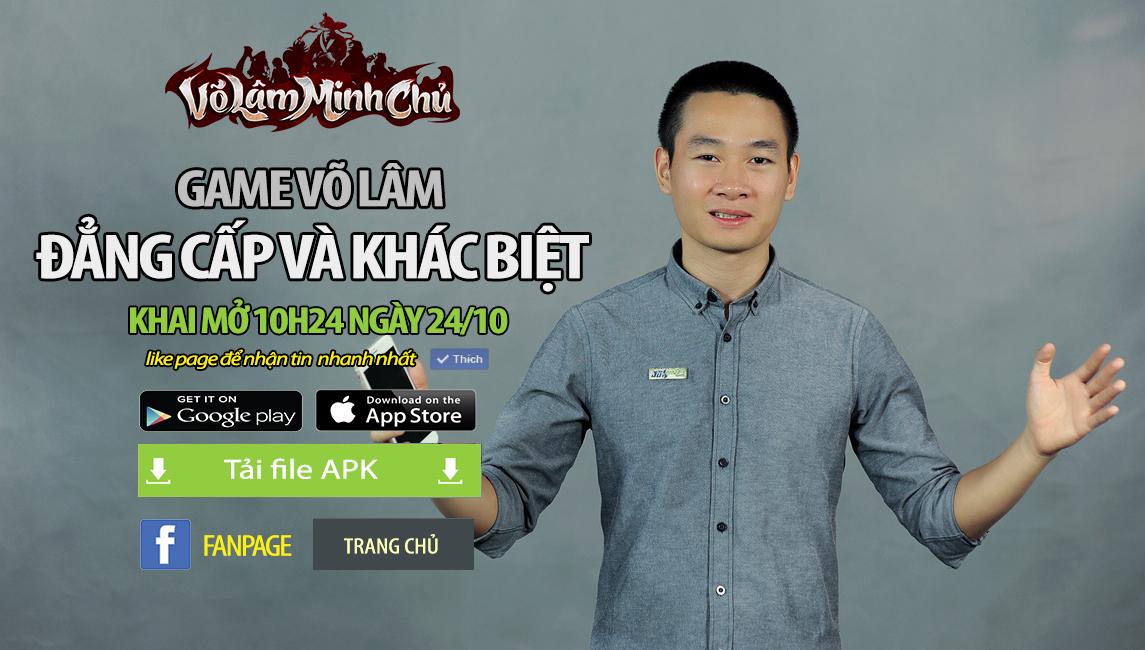 GameSao thân tặng 100 VIPCODE Võ Lâm Minh Chủ mừng Closed Beta