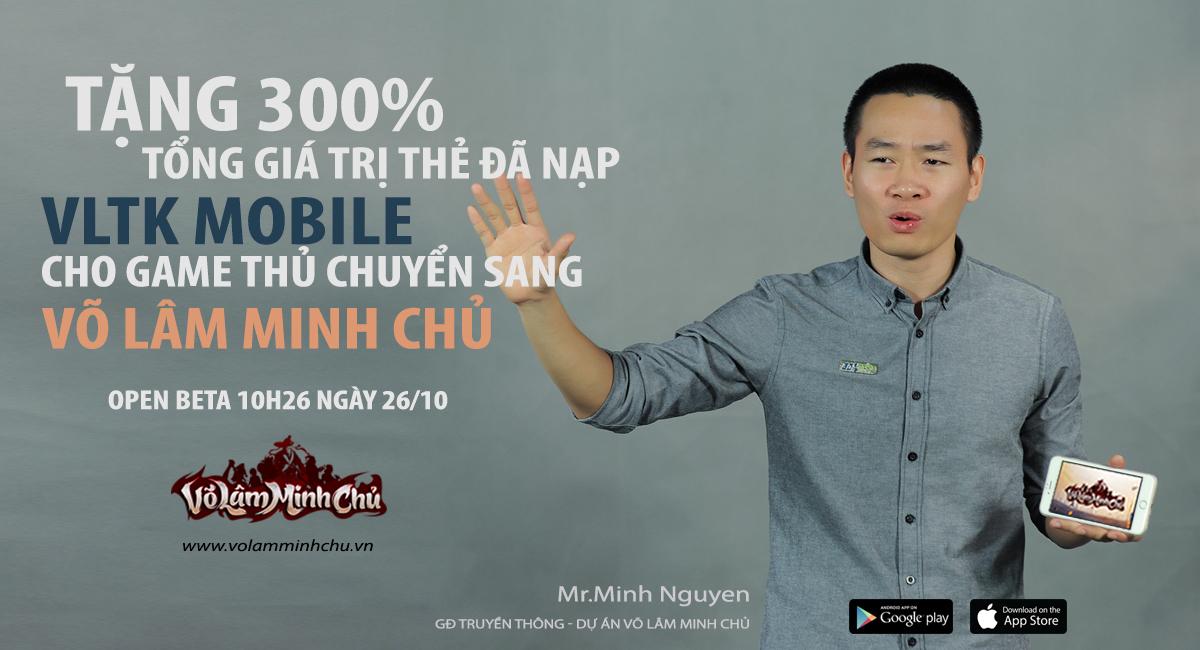 GameSao thân tặng 100 VIPCODE Võ Lâm Minh Chủ update tính năng 'chưa từng có trên mobile'