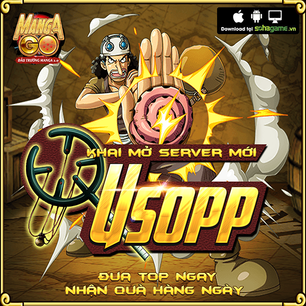 GameSao thân tặng 500 GiftCode Manga GO mừng ra mắt server mới Usopp