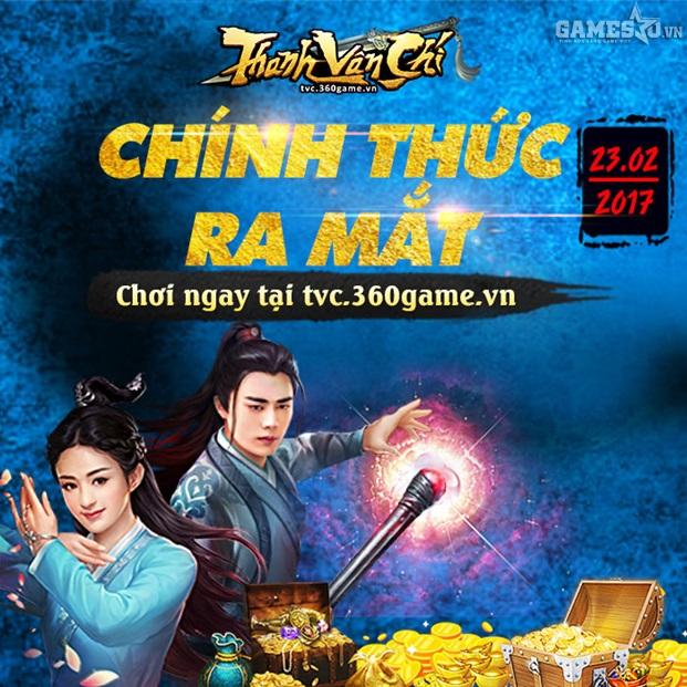 GameSao thân tặng 100 VIPCODE Thanh Vân Chí mừng game ra mắt
