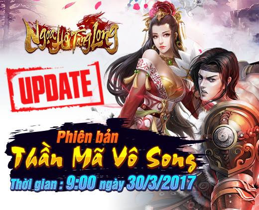 GameSao thân tặng 100 VIPCODE Ngọa Hổ Tàng Long mừng Big Update Thần Mã Vô Song