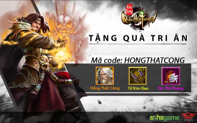 GameSao thân tặng 100 GiftCode Kim Dung Quần Hiệp Truyện mừng ra mắt máy chủ mới