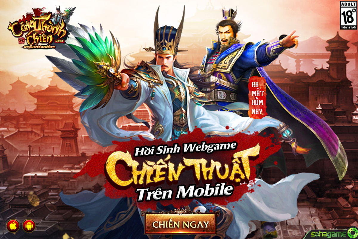 GameSao thân tặng 200 GiftCode Công Thành Chiến Mobile mừng Closed Beta