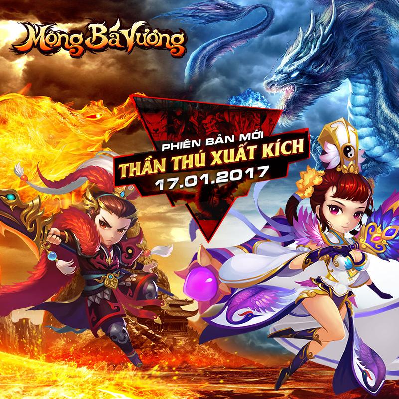 GameSao thân tặng 200 GiftCode Mộng Bá Vương mừng năm mới 'Vượt vũ môn hóa rồng'
