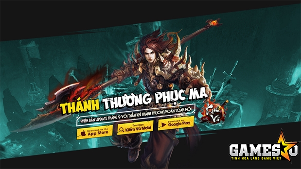 GameSao tặng 200 GiftCode Kiếm Vũ Mobi nhân dịp update Thánh Thương Phục Ma