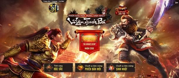 GameSao thân tặng 300 GiftCode Võ Lâm Tranh Bá trị giá 3 triệu VNĐ mừng Ngạo Kiếm Kỳ Thư Big Update