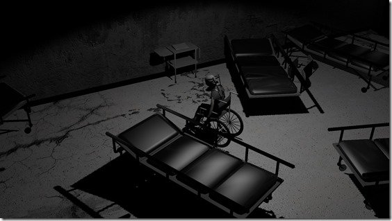 Hollow Halls -  Tựa game đáng sợ bắt nhân vật chính phải di chuyển bằng xe lăn