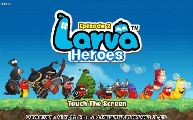 Larva Heroes - Tựa game vui nhộn về 2 chú sâu hài hước
