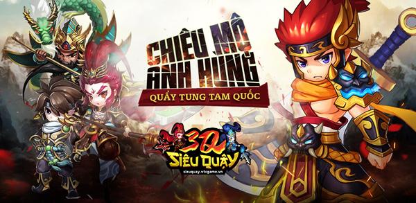 3Q Siêu Quậy – Game Tam Quốc chơi kiểu ma thuật Yugi-Oh cực hấp dẫn chào sân làng game Việt!