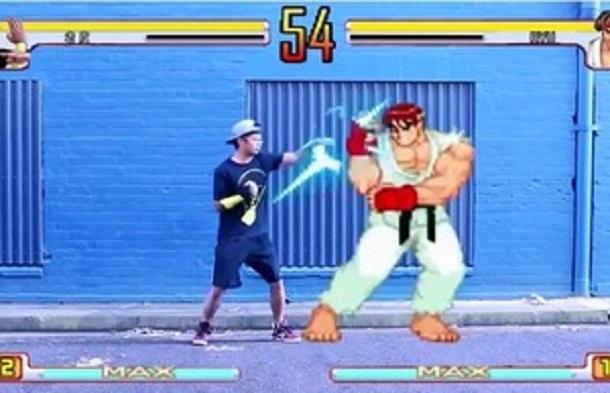 Độc đáo game thủ tự đưa mình vào thế giới ảo của Street Fighter