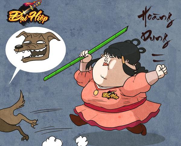 Ngỡ ngàng khi loạt nhân vật kiếm hiệp Kim Dung trở nên 'béo phì'