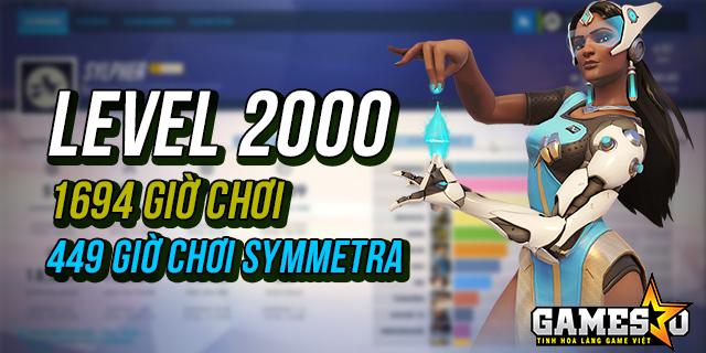 Nữ game thủ Overwatch đạt level 2000 sau 1694 giờ chơi