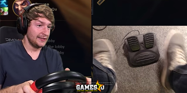 YouTuber chơi LMHT bằng…vô lăng và bàn đạp ô tô