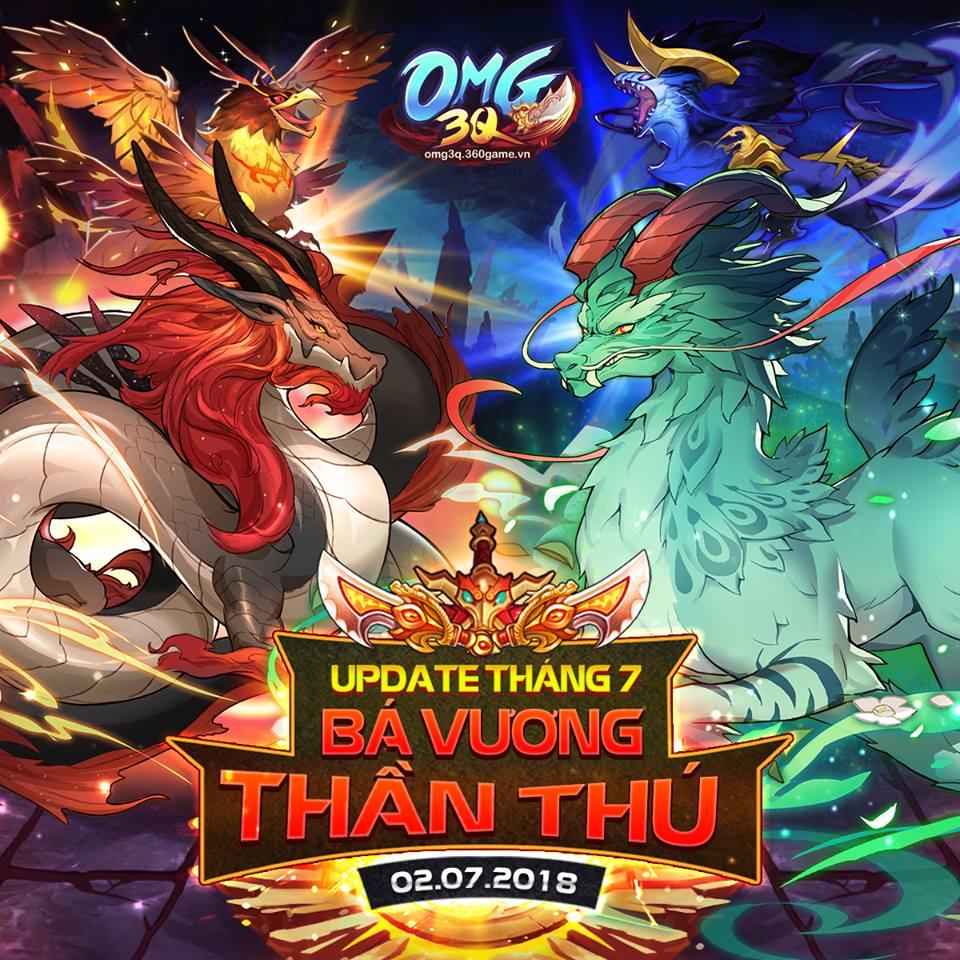 Từ bản update tháng 7 này, ngoài 6 vị tướng ra trận trong đội hình thì game  thủ OMG 3Q sẽ nhận thêm sự trợ giúp từ các Thần Thú siêu cấp.