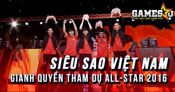 [IWCA 2016] Siêu Sao Việt Nam chính thức giành quyền tham dự All-Star Barcelona 2016