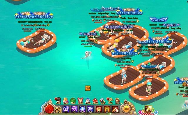 Giải nhiệt mùa hè với bãi biển riêng của webgame Đại Kiếm Vương