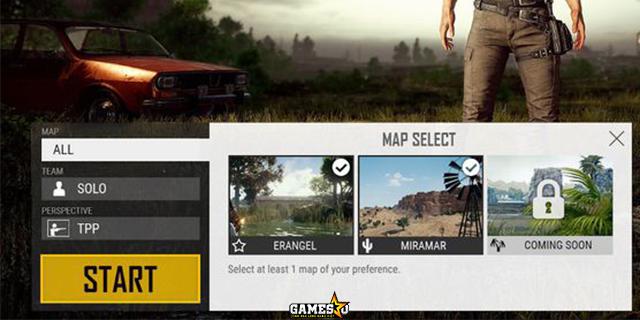 PUBG: Người chơi sắp được thoải mái lựa chọn map trước khi vào trận