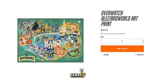 Overwatch: Bản đồ thật của Blizzard World có giá 50 USD, giới hạn 1000 bản