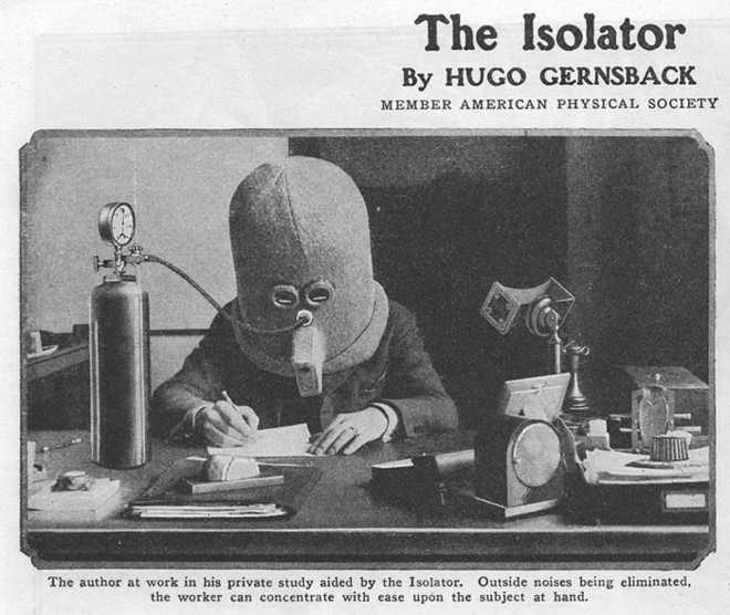 Chiếc mũ giúp tập trung được phát minh năm 1925
