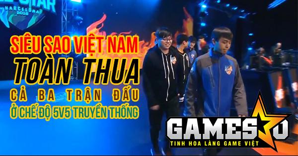 [All-Star 2016] Siêu Sao Việt Nam tan vỡ hoàn toàn trước Siêu Sao Đài Loan sau chưa tới 20 phút thi đấu