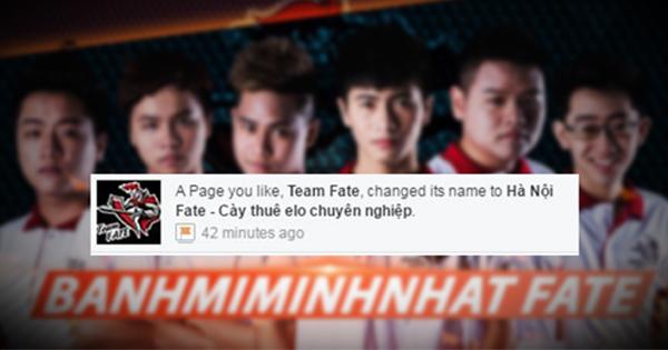 [LMHT] Đội trưởng Team Fate giải nghệ để chuyển sang cày thuê?