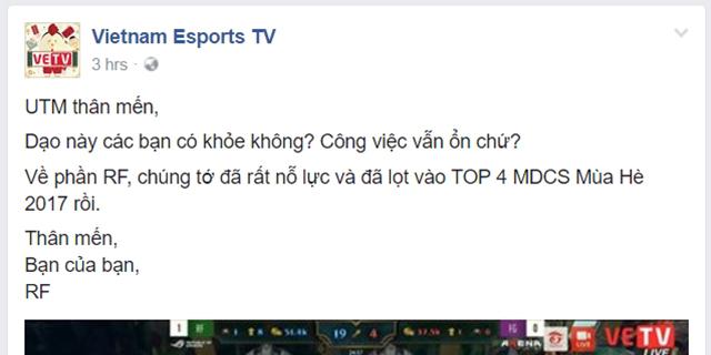 LMHT: VETV đang 'chà đạp lên sự cố gắng của game thủ trong đội tôi'