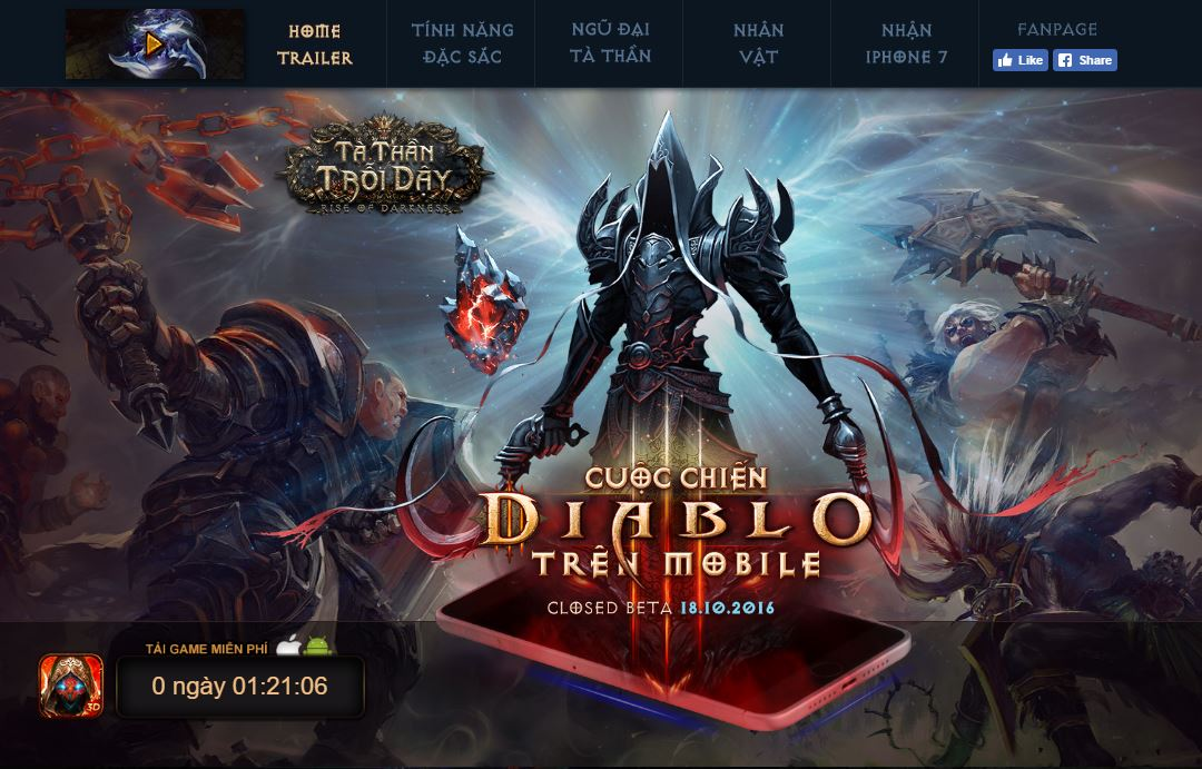 Tà Thần Trỗi Dậy – Cuộc chiến Diablo trên Mobile sẽ đến tay game thủ Việt  ngày hôm nay