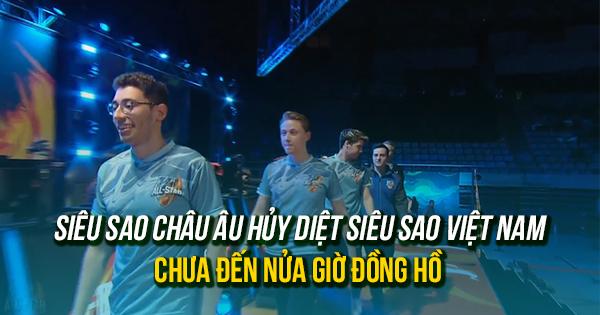 [All-Star 2016] Siêu Sao Việt Nam lại thua chóng vánh Siêu Sao Châu Âu