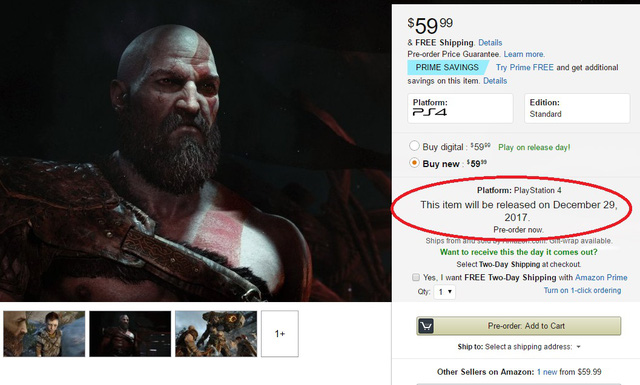 God of War 4 sẽ ra mắt vào tháng 9 năm nay?